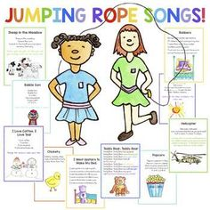 Jump Rope Songs, Jump Rope Games, Elementary Physical Education, Elementary Music, Elementary Schools, Elementary Counseling, Education English, School Counselor, Preschool Songs