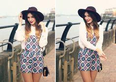 Lavish Alice Playsuit Tile Print by What Olivia Did, via Flickr