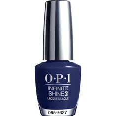 OPI Get Rydofthym Blues Infinite Shine Nail Polish .5 oz. ($13) ❤ liked on Polyvore featuring beauty products, nail care, nail polish, opi nail lacquer, opi nail care, glossy nail polish, opi nail varnish and opi