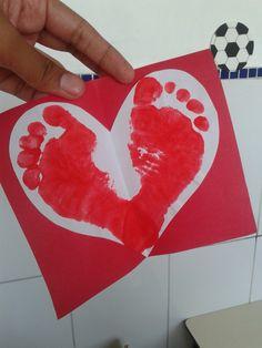 Pezinhos forma de coração.