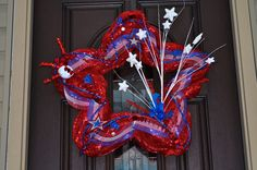 wreath for the 4th of July! Where can I get a star shaped heart base for this?