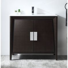 Shop for Larvotto Ebony Contemporary Bathroom Sink Vanity. Simple Bathroom, Contemporary Bathroom Sinks, Modern Master Bathroom, Stylish Bathroom, Bathroom Decor, Simple Bathroom Remodel, Bathroom Floor Plans, Vanity Sink, Elegant Bathroom Design