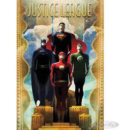 DC Comics Poster Justice League Art Deco Hier bei www.closeup.de