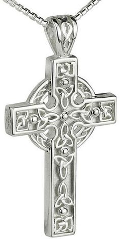 Sterling Silver Heavy Celtic Cross - Celtic Cross Online  Lost, then found and list again. If I never find it I may have to replace it.