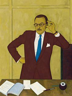 PORTRAIT OF TAM PURVES by John Brack, 1958 | Deutscher and Hackett