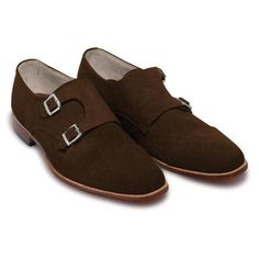 Drop that style bomb with these newly styled double monk leather shoes. Made with great quality hand-stitched suede leather, these babies are a treat to look at and a treat to wear. Highly soft and cozy on the inside with the insoles being lined with leather padding and sporting an ultra modern look on the outside Bit Loafers, Penny Loafers, Purple Leather Jacket, Oxford Brogues, Suede Leather Shoes, Brown Oxfords, Stitching Leather, Formal Shoes, Black Heels