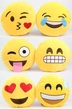 2014 New Emoji Smiley Emoticon Round Cushion Pillow Soft Stuffed ...