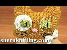 Crochet Kitty Hat for Kids Free Pattern Tutorial 6 Part 2 of 2 Crochet Cat Hat - YouTube