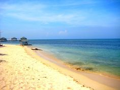The still water of Stilts Beach Resort. Calatagan, Batangas, Philippines