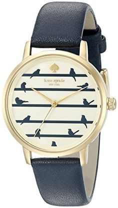 kate spade new york Womens KSW1022 Metro Analog Display Analog Quartz Blue Watch >>> Learn more by visiting the image link.