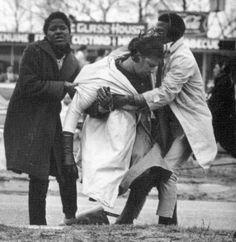 """Amelia Boynton Robinson, more than a century old and a matriarch of the civil rights movement, recalls how she was beaten, tear-gassed and left for dead on """"Bloody Sunday."""" Photo credit: Does anyone know who took this photo? Women In History, Black History, March 7, 6 July, Sunday Photos, Civil Rights Movement, Edwardian Fashion, Vintage Fashion, Civil Rights"""