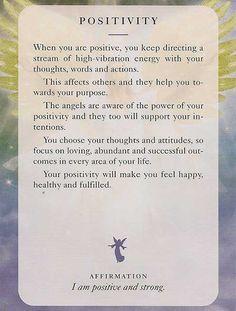 Angel Card: 08 July 13: Positivity