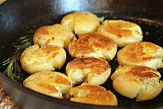 Salt & Vinegar Crispy Potatoes... bake and then pan fry