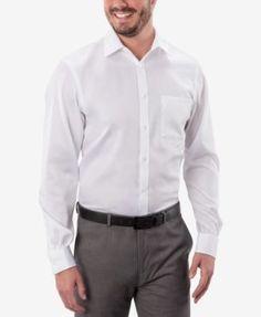 Michael Michael Kors Men's Classic-Fit Non-Iron Twill Dress Shirt - Blue 18 36/37