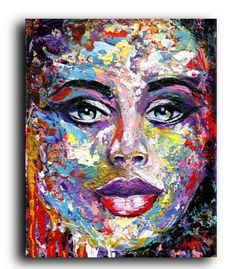Femme Fatale #2 #originalpaintings #fineart #artist #portrait #abstract #modern #contemporary #colorful #prints #gallery #streetart #acrylic #gifts #mothersday #lifestyle #homedecor