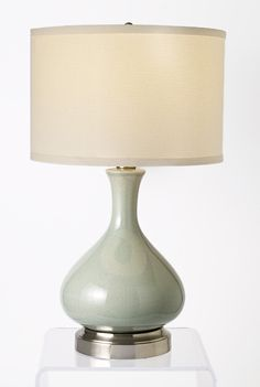Bartlett Celadon Cordless Lamp   Made In The USA