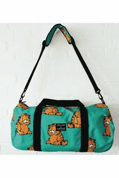 LAZY OAF x GARFIELD-GARFIELD BARREL BAG(unisex)-BLUE