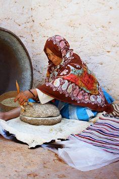Africa | Berber Widow Milling Semolina | © Ed Wright