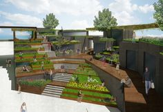 Terraced Plaza by Henry Wu, via Behance