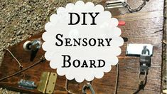 DIY Busy Board for Babies and Toddlers Diy Busy Board, Diy Sensory Board, Day Work, Fun Projects, Fun Activities, Toddlers, Baby Kids, Babies, Make It Yourself