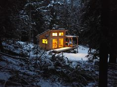 """Hornby Island, British Columbia, Canada  Contributed by Jac Graham  """"I started construction on this cabin, three weeks before my 20th birthday.  """""""