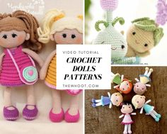 You'll love these cute crochet dolls and you'll find a fabulous free pattern in our collection. We have lots of adorable ideas that you will love. Watch the video tutorial too.