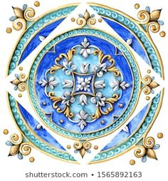 Illustrazione stock 1565892163 a tema Italian Majolica Decoration On Ceramic Tiles Classic House Exterior, Portfolio, English Language, Royalty Free Images, Zentangle, Needlepoint, Backdrops, Tiles, Home Decor Ideas
