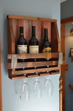 Reclaimed Barn Wood / Wine Stave Wine Rack - Mini
