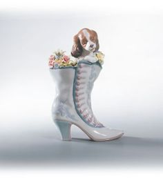 Lladro A Well Heeled Puppy. #Lladro #Statue #Sculpture #Decor #Gift #gosstudio .★ We recommend Gift Shop: http://www.zazzle.com/vintagestylestudio ★