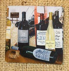 Designer Wine Coaster set by LynnNeuman on Etsy