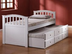 09145ASET in by Acme Furniture Inc in Albany, NY - White Finish Twin Size Bed with Trundle & Drawers