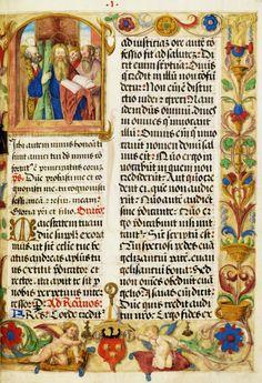 Saint Andrew, a leaf from bishop Erazm Ciołek Missal by Anonymous from Kraków, ca. 1515 (PD-art/old), Biblioteka Narodowa