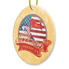 Proud #Croatian American Christmas Ornament. For more holiday ornaments, please check out my store: www.zazzle.com/celticana*/ #ChristmasOrnaments #ChristmasDecorations #Zazzle