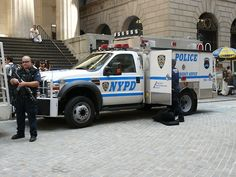 NYPD on the job on Wall Street