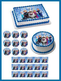 Frozen 5 Edible Birthday Cake Topper OR Cupcake Topper, Decor #BirthdayChild