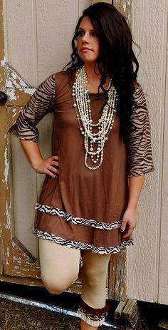 A Brown Vintage Lace Zebra Ruffle Dress