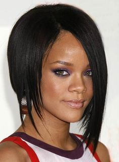 Rihanna Edgy, Long Bob