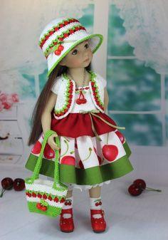 """Наряд """" Вишенка"""" Куклы Дианы Эффнер. / Одежда для кукол / Шопик. Продать купить куклу / Бэйбики. Куклы фото. Одежда для кукол"""