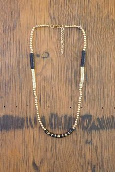 Thickly Beaded Necklace - Black
