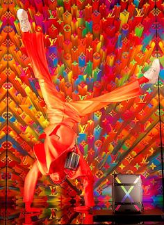 RetailStoreWindows: Louis Vuitton, Paris Visual Merchandising Displays, Retail Displays, Shop Displays, Window Displays, Fashion Window Display, Lit Outfits, Fortnum And Mason, Vintage Louis Vuitton, Urban Art