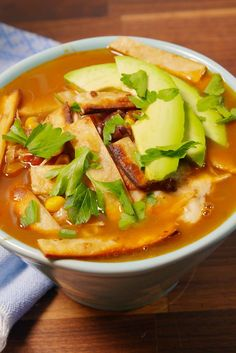 Slow-Cooker Chicken Tortilla Soup  - Delish.com