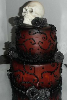 Red Skull Cake by munkey