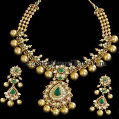 Latest Collection of best Indian Jewellery Designs. Gold Jewellery Design, Gold Jewelry, Jewelery, India Jewelry, Temple Jewellery, Indian Wedding Jewelry, Bridal Jewelry, Antique Jewelry, Pearls