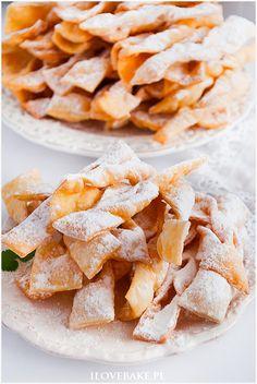 Faworki Ćwierczakiewiczowej - I Love Bake Snack Recipes, Snacks, Chips, Baking, Kitchen, Food, Snack Mix Recipes, Appetizer Recipes, Appetizers