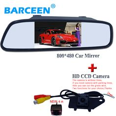 """wire car rear view camera ues for MITSUBISHI RVR ASX 2013/014 +800*480 resolution car parking mirror 4.3"""""""