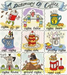 A Dictionary of Coffee - Bothy Threads cross stitch kit