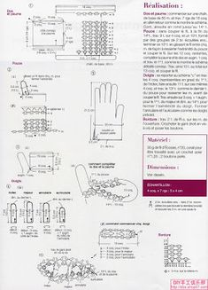 Crochet Gloves Pattern, Crochet Mittens, Crochet Beanie, Crochet Scarves, Crochet Clothes, Lace Gloves, Knitted Gloves, Irish Crochet, Crochet Lace