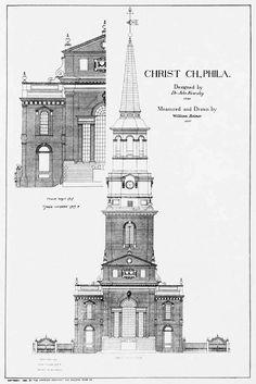 Elevation of Christ Church, Philadelphia