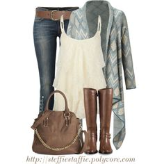 """Long Draped Cardigan"" by steffiestaffie on Polyvore"