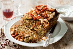 Fiery chillies and crunchy cashews make this quinoa loaf a fabulous vegetarian side.